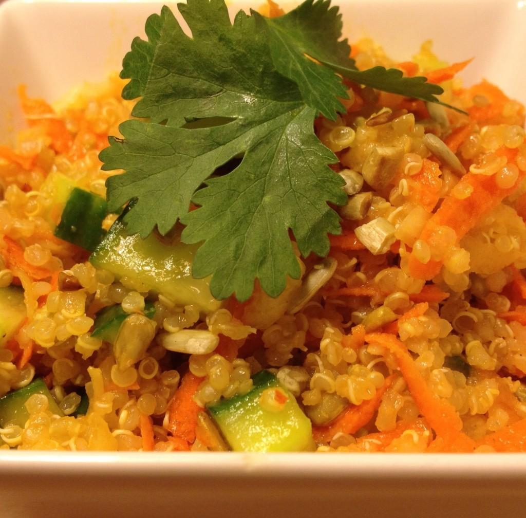 Fusion Superfood Salad with Harissa-Sesame Dressing