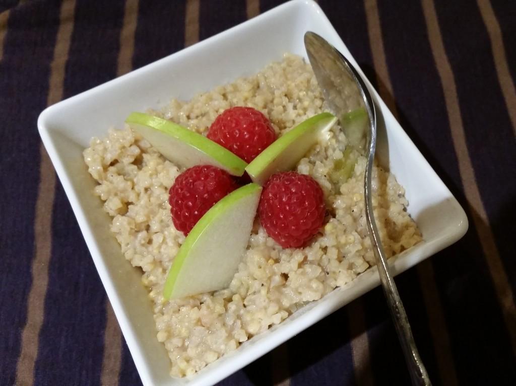 Millet-Apple Hot Cereal