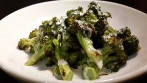 Roasted Broccoli with Creamy Hemp Seed Dressing