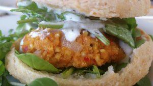 Harissa-Chickpea Burger