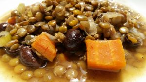 Rustic Lentil Stew with Balsamic and Olives