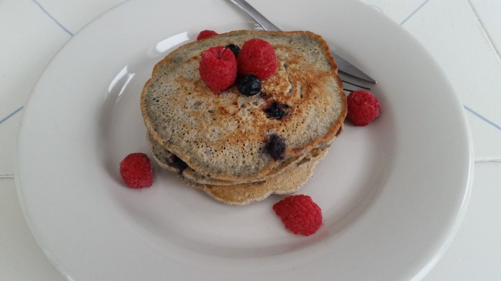 Blueberry-Blue Corn Pancakes