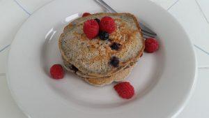 Blueberry-Blue Corn Pancakes