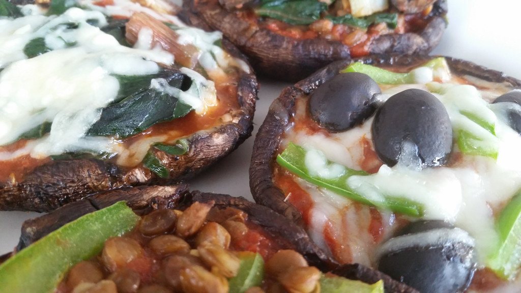 Mini Portobello Pizzas (Grain-Free!)