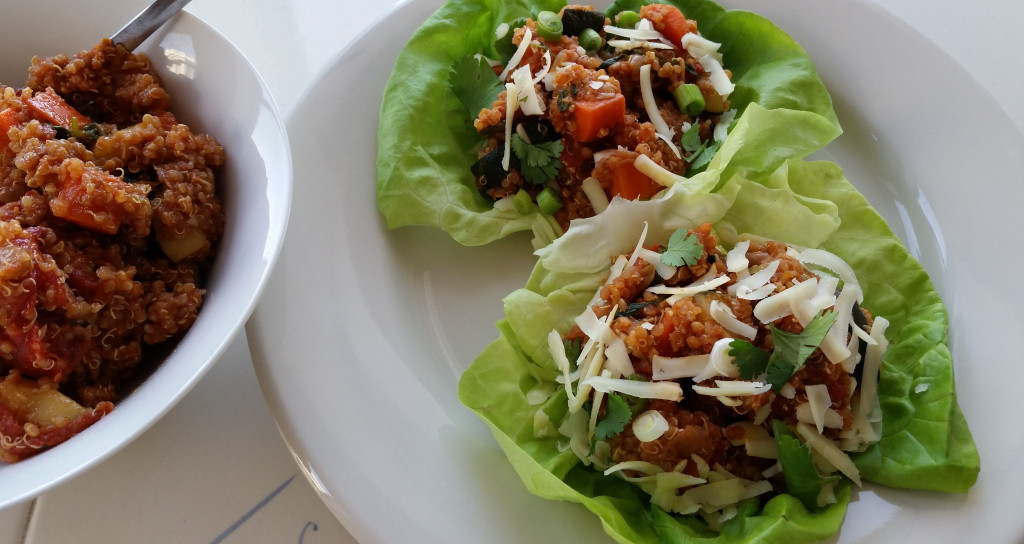 Mexican Quinoa-Vegetable Lettuce Wrap