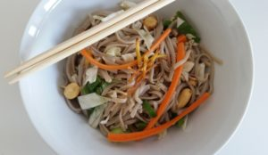Summer Buckwheat Noodle Salad