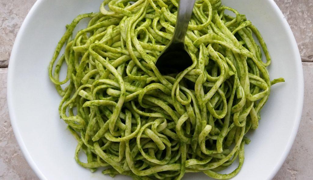 Lemony Chive and Spinach Pesto (Vegan/Dairy-Free Option)