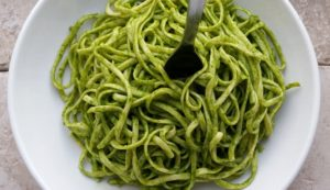 Lemony Chive and Spinach Pesto (Vegan/Dairy-Free Option)