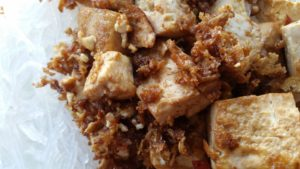 Tofu and Crispy Bits
