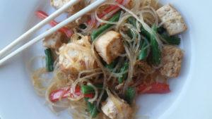 Tofu and Bean Thread Stir-Fry