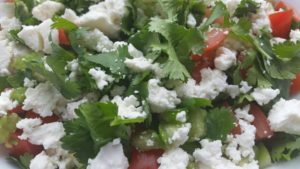 Tomatillo-Feta Topping