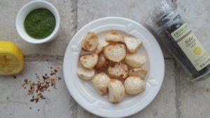 Lime-Roasted Hakurei Turnips with Chimichurri and Smoked Salt
