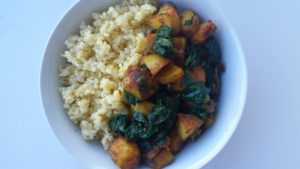 Spicy Tibetan-Style Potatoes & Spinach