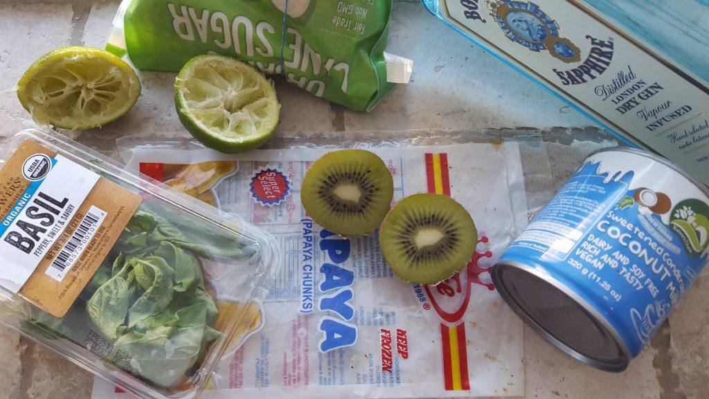Kiwi-Papaya Sherbert