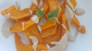 Roasted Kabocha Squash with Walnut Sauce