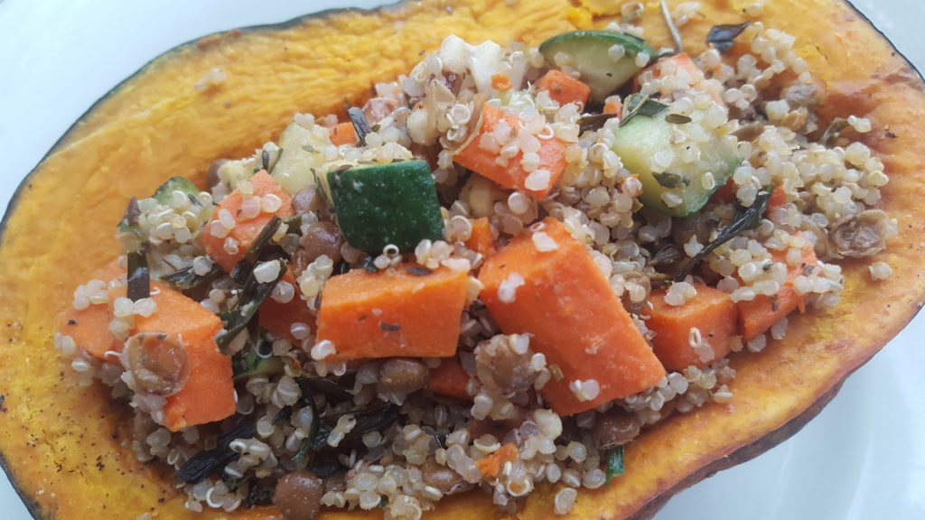 Sample Thanksgiving Menu + Stuffed Kabocha Recipe