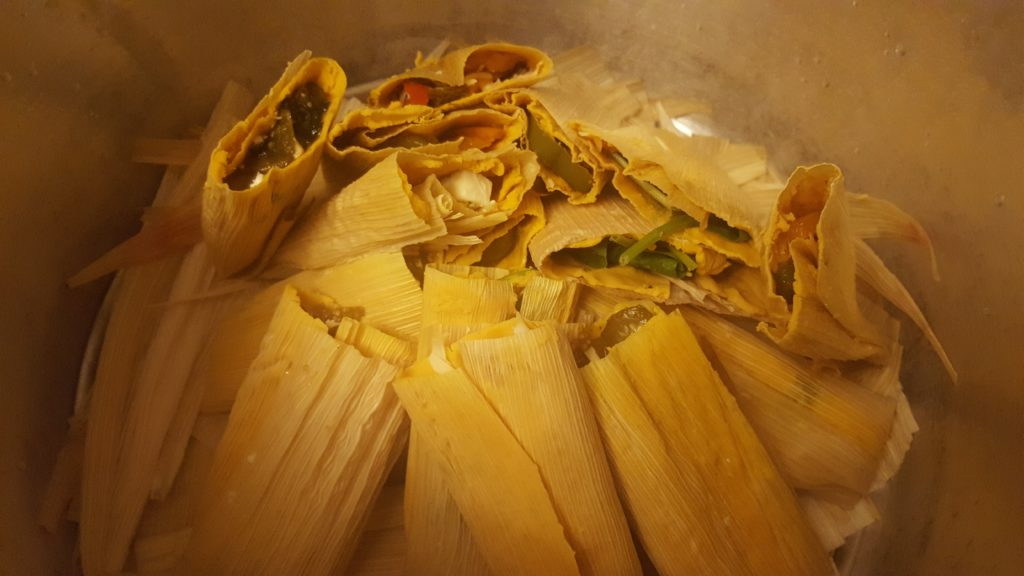 Tamales in the pot